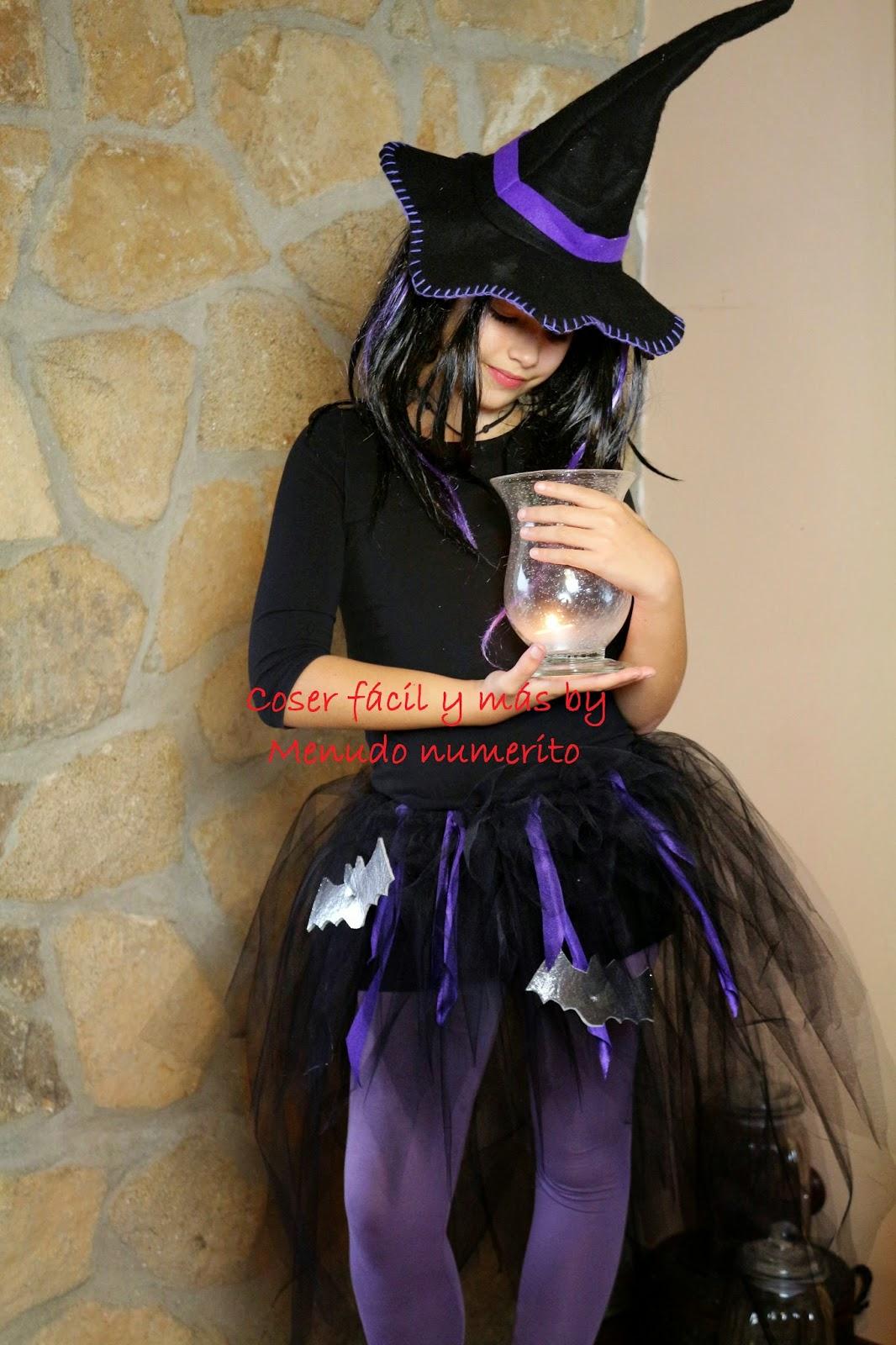 disfraz de bruja sin coser facil ymas menudo numerito halloween
