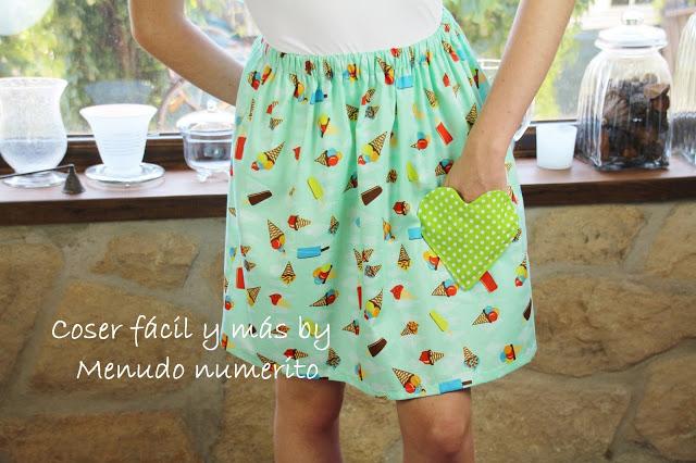 Una falda de verano con bolsillo