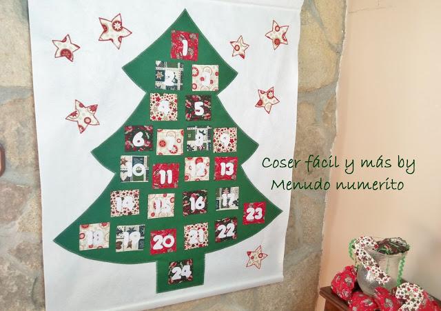 Calendario de Adviento muy fácil (con patrón)