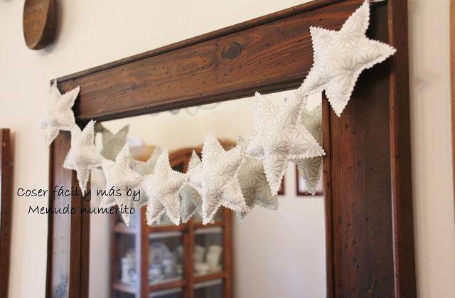 Adornos de Navidad: una guirnalda de estrellas