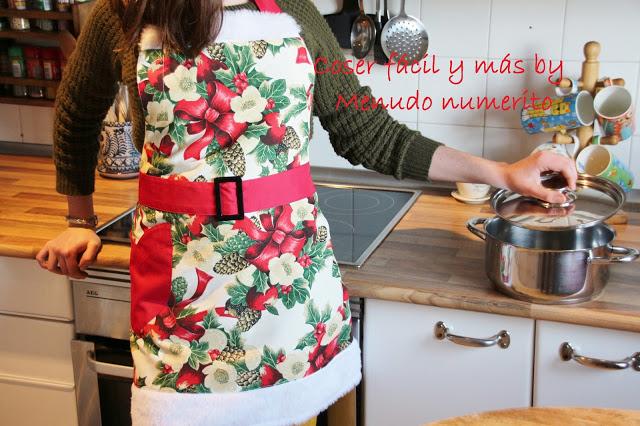 Cómo hacer un delantal para Navidad