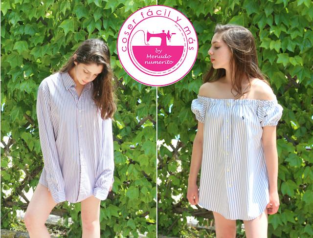 Reciclar camisas: hacemos un vestido