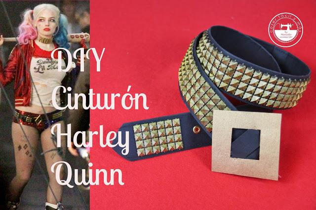 Disfraz de Harley Quinn: cinturón y camiseta