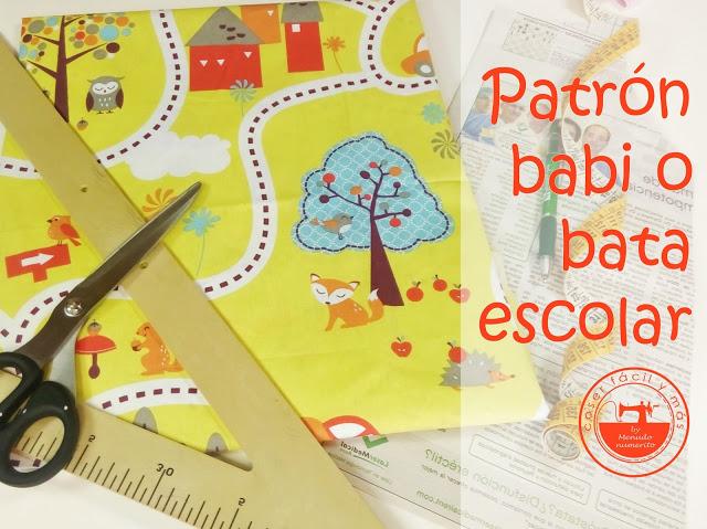 Cómo trazar el patrón de un babi o bata escolar