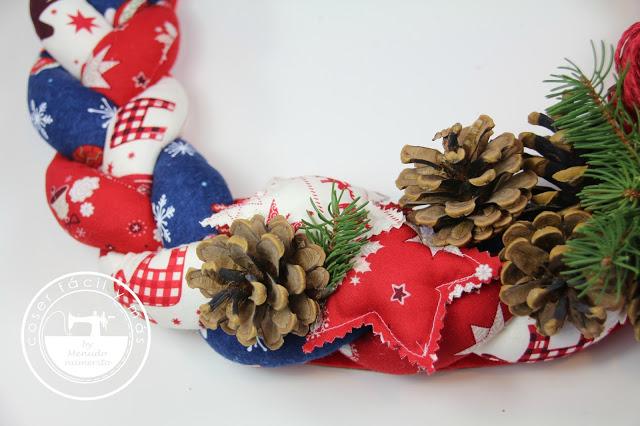 Más ideas para Navidad: corona trenzada