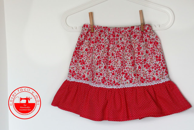 Cómo coser una falda con volantes