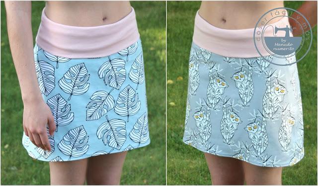 Cómo hacer una falda de punto reversible