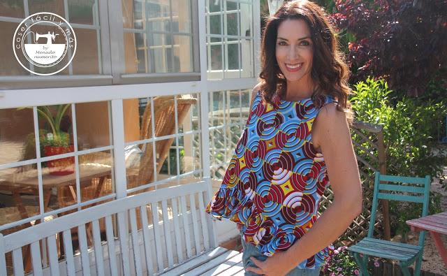 Una blusa de verano cómoda y fácil: mi blusa africana