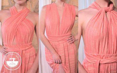 """Cómo coser un """"infinity dress"""" o vestido convertible"""