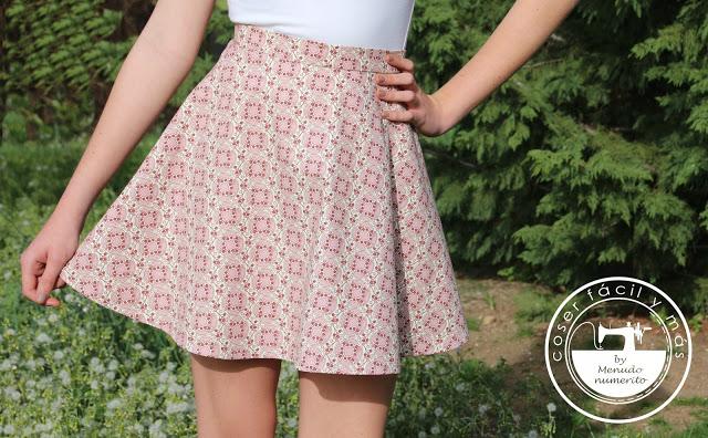 Cómo coser una falda de media capa o semicircular