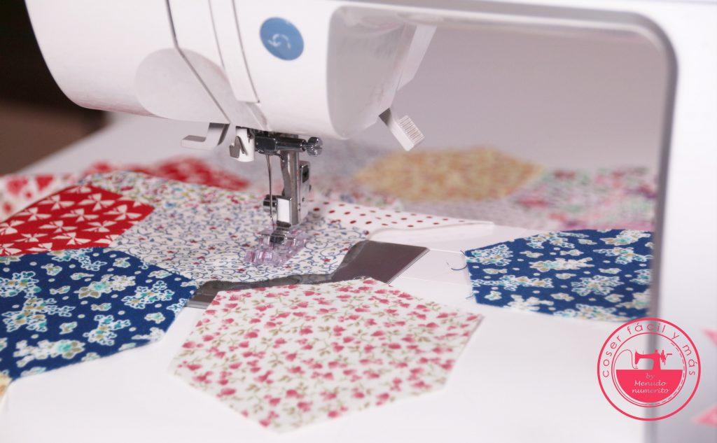 coser hexagonos a maquina patchwork coser facil y mas menudo numerito