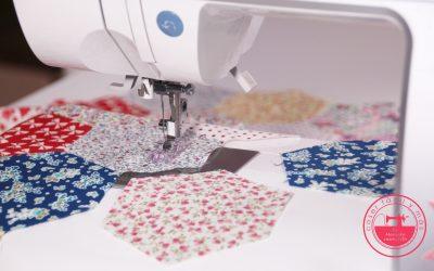 Coser hexágonos de patchwork a máquina
