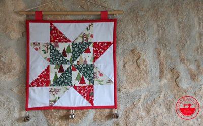Estrella de Navidad de patchwork fácil