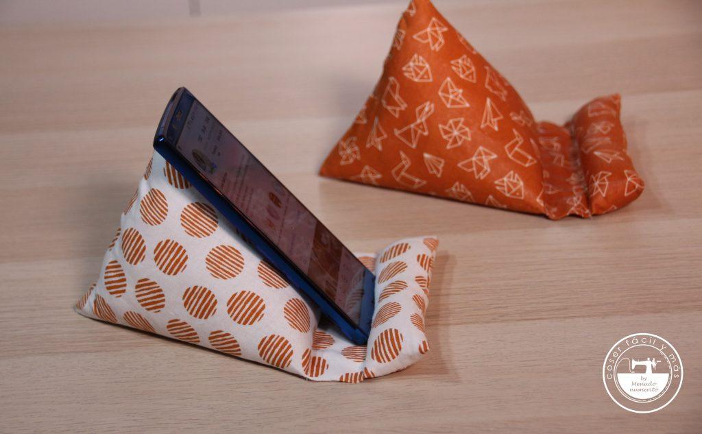 soporte para movil antimanchas coser facil y mas menudo numerito