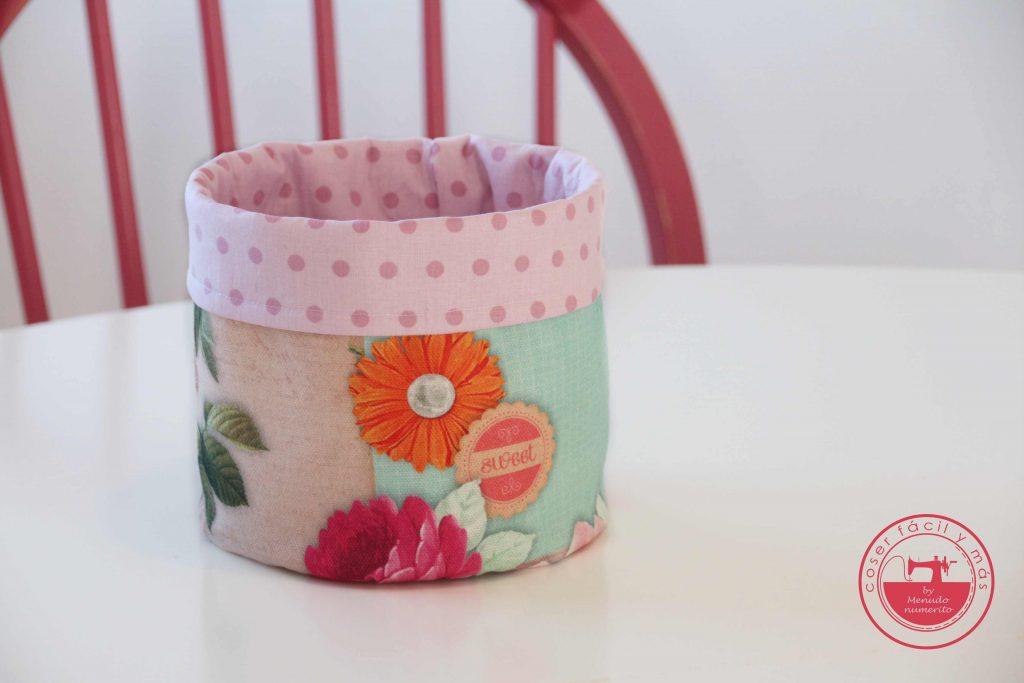 cestas de tela redondas coser facil y mas menudo numerito