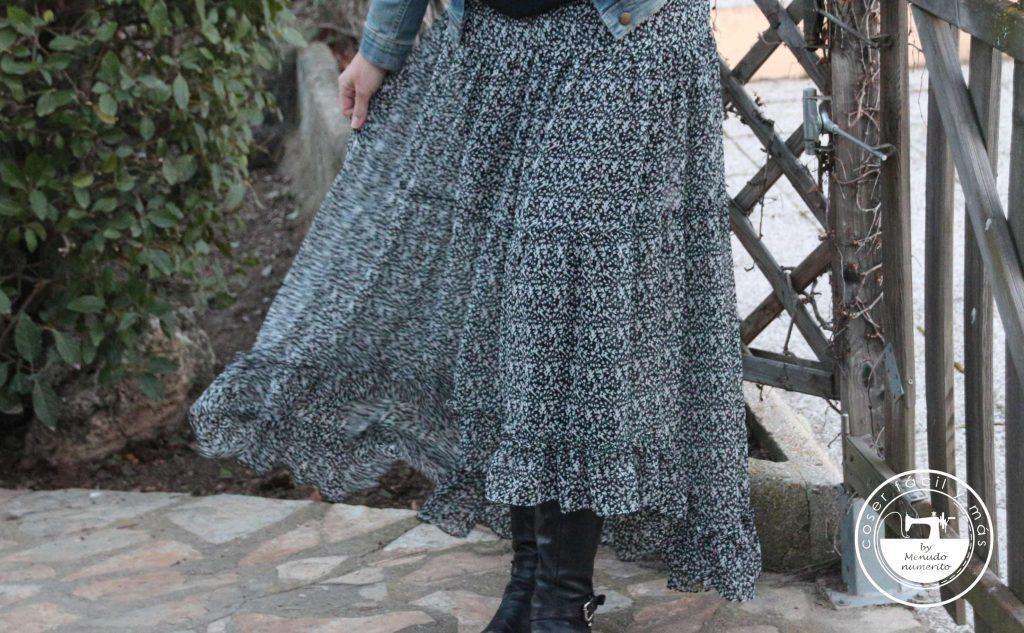 falda larga asimetrica coser facil y mas menudo numerito