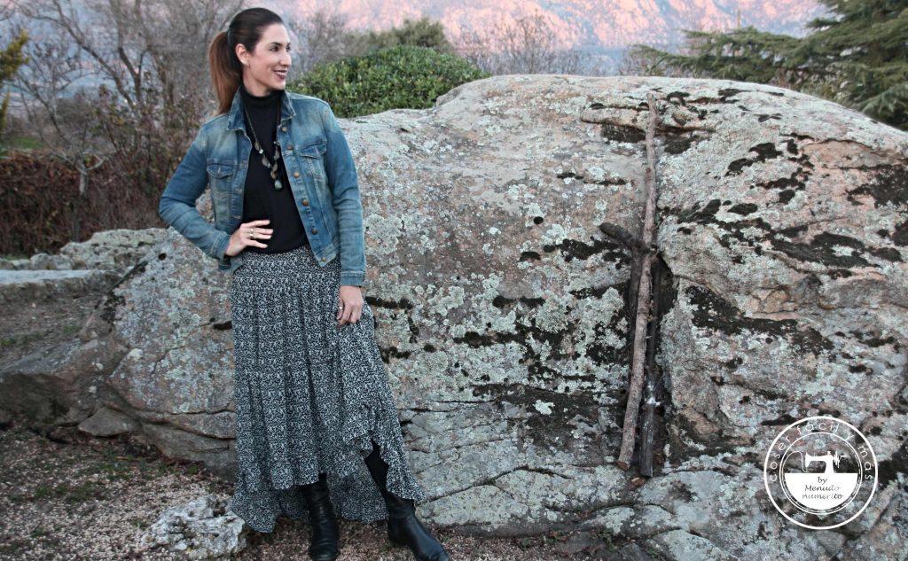 falda larga simétrica gasa coser facil y mas menudo numerito