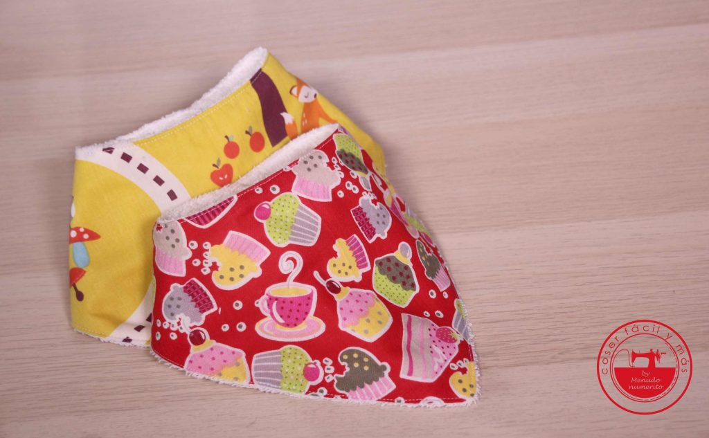 bandana babero bebe coser facil y mas menudo numerito