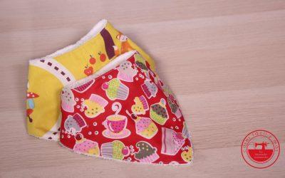 Bandana para bebé con patrón gratis