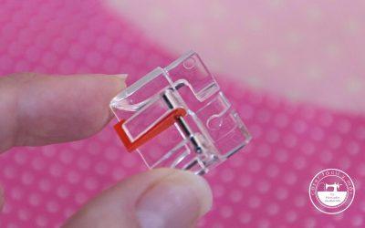 Prensatelas para coser piezas curvas