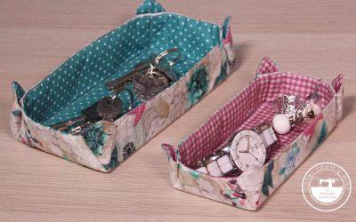 Bandejas vaciabolsillos, con patrón en 3 tamaños.