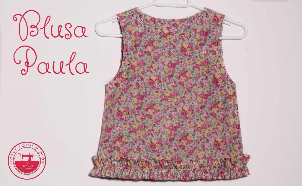 blusa de niña coser facil menudo numerito paula