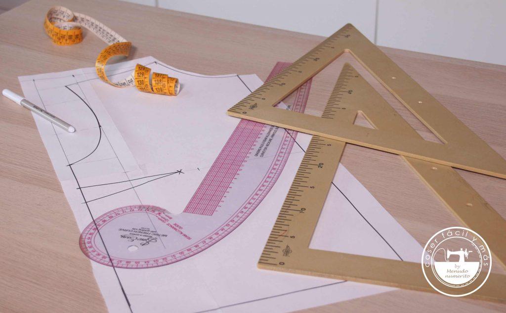 trazar patron blusa básica coser facil menudo numerito blogs de costura