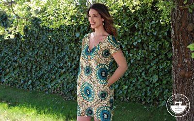 Vestido de verano «Yolanda», con sabor a África
