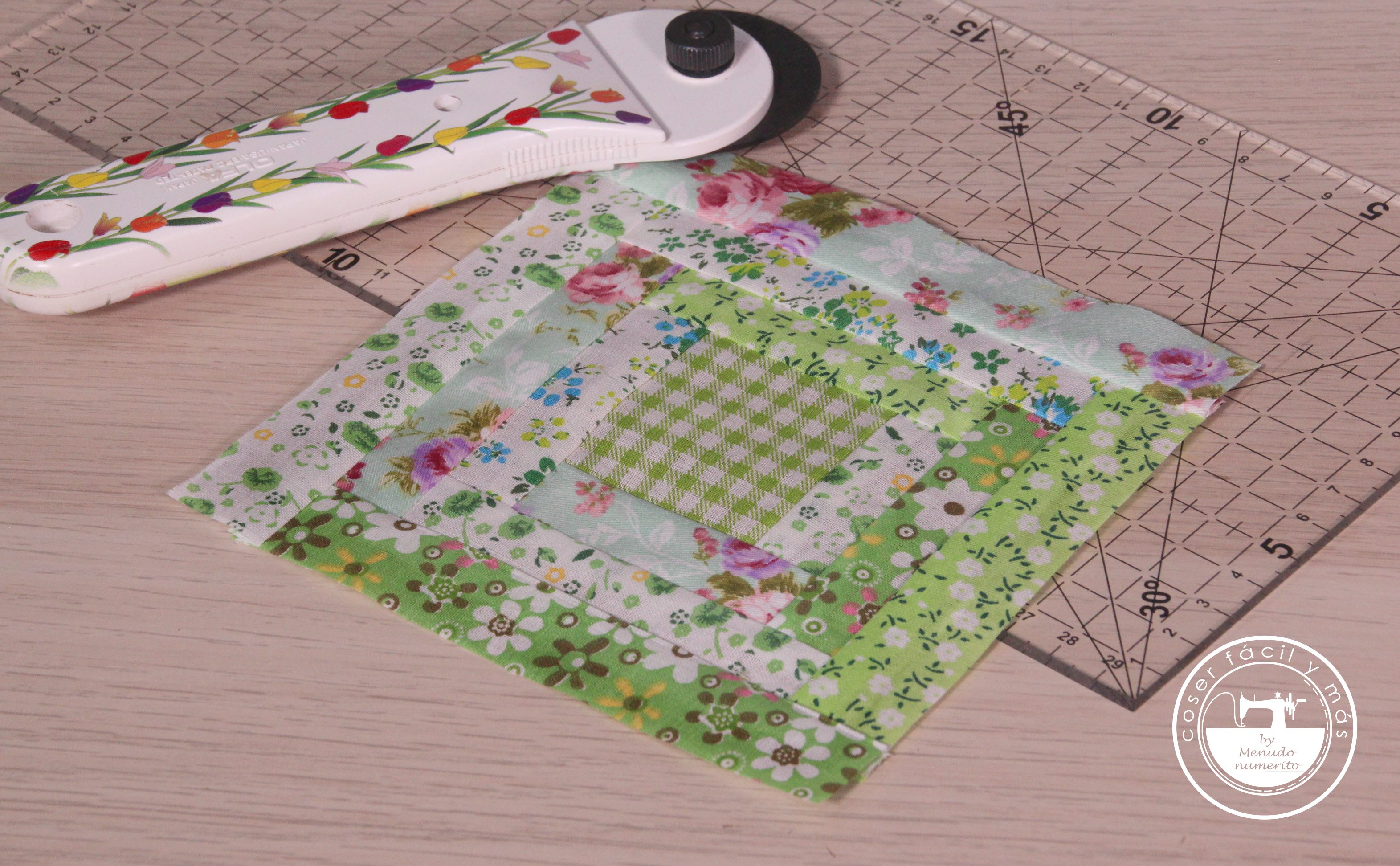 log cabin coser facil menudo numerito patchwork blogs de costura