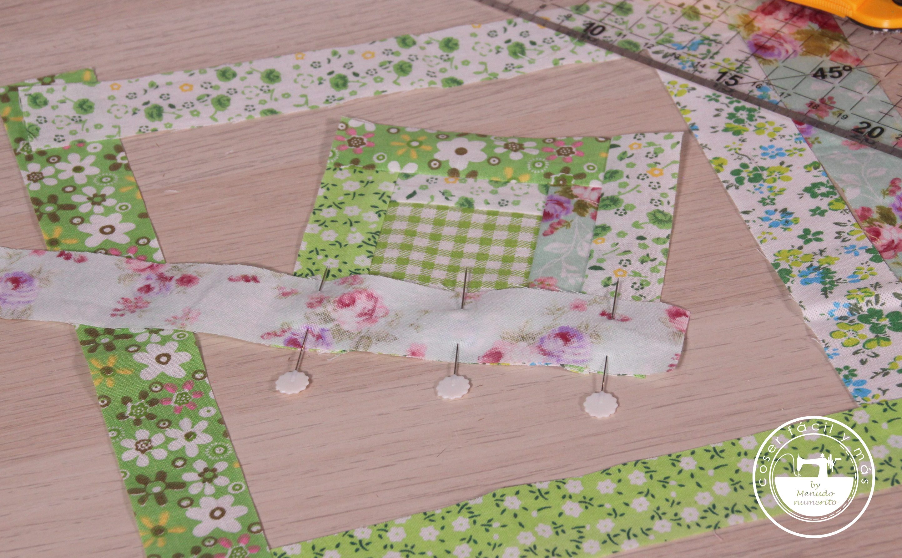 log cabin patchwork coser facil menudo numerito blogs de costura