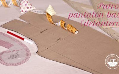 Trazar el patrón de pantalón básico a medida (delantero)