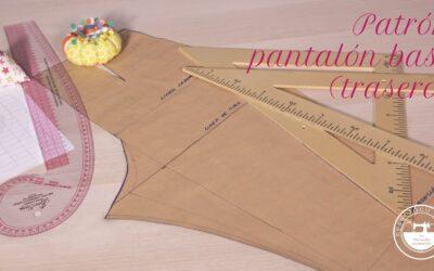Trazar el patrón de pantalón básico a medida (trasero)