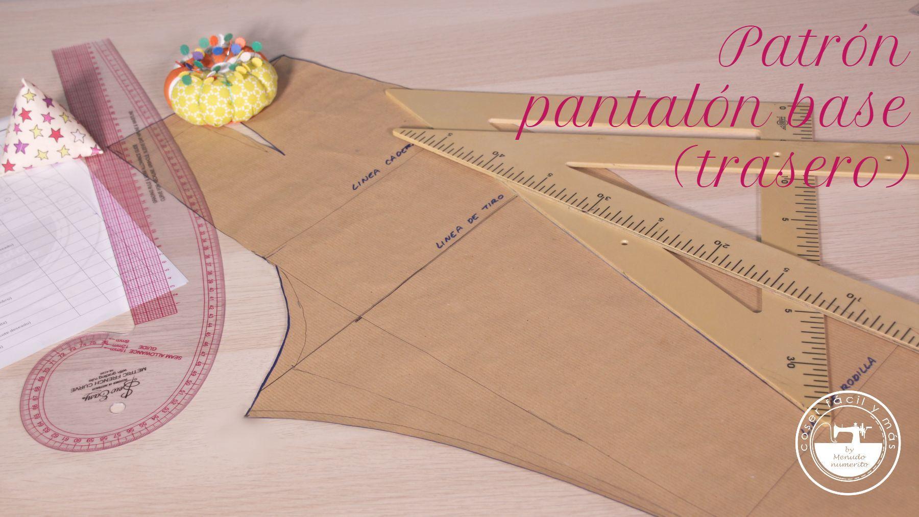 trazar patron pantalon base trasero coser facil blogs de costura