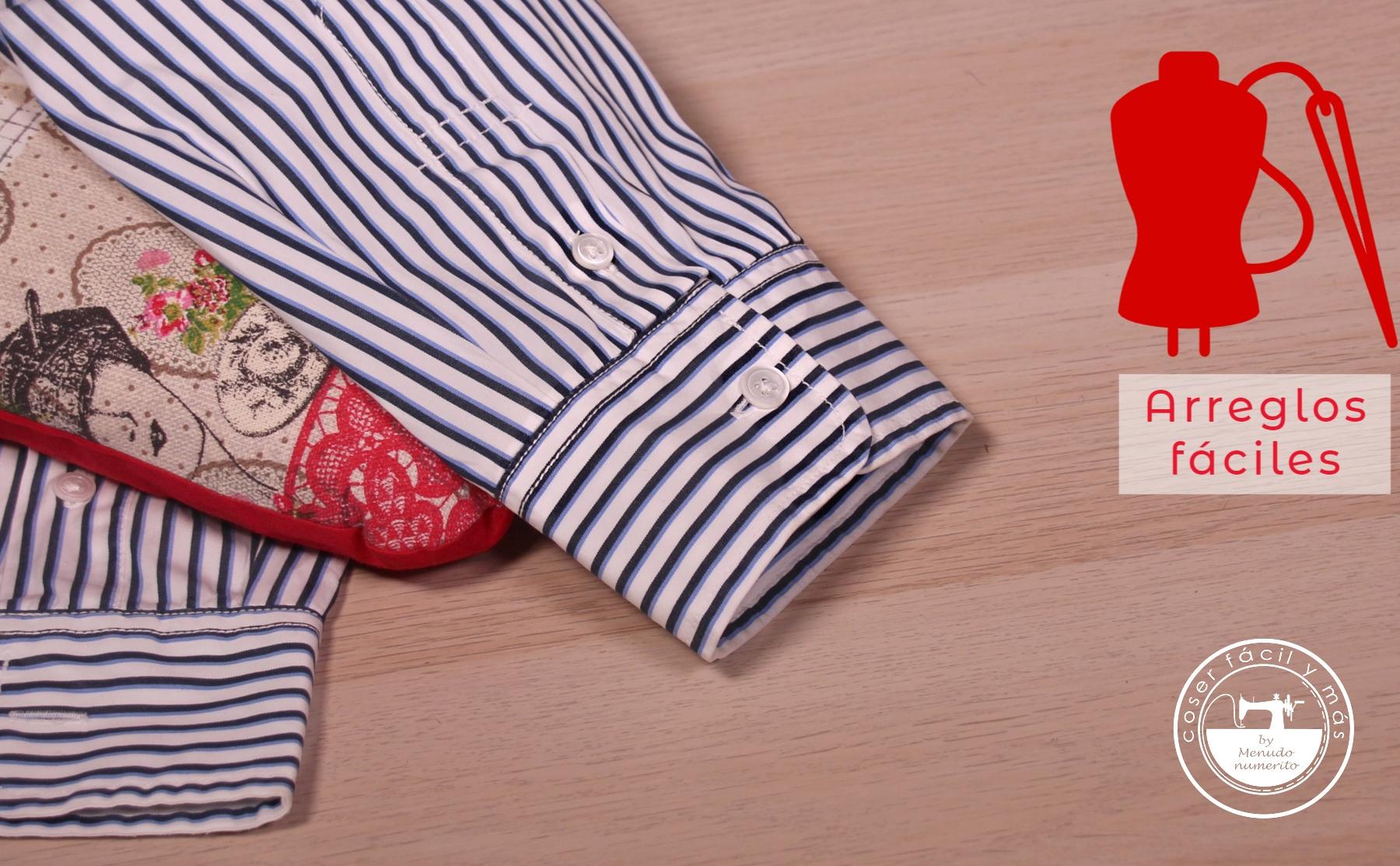 acortar mangas camisa menudo numerito arreglos de costura