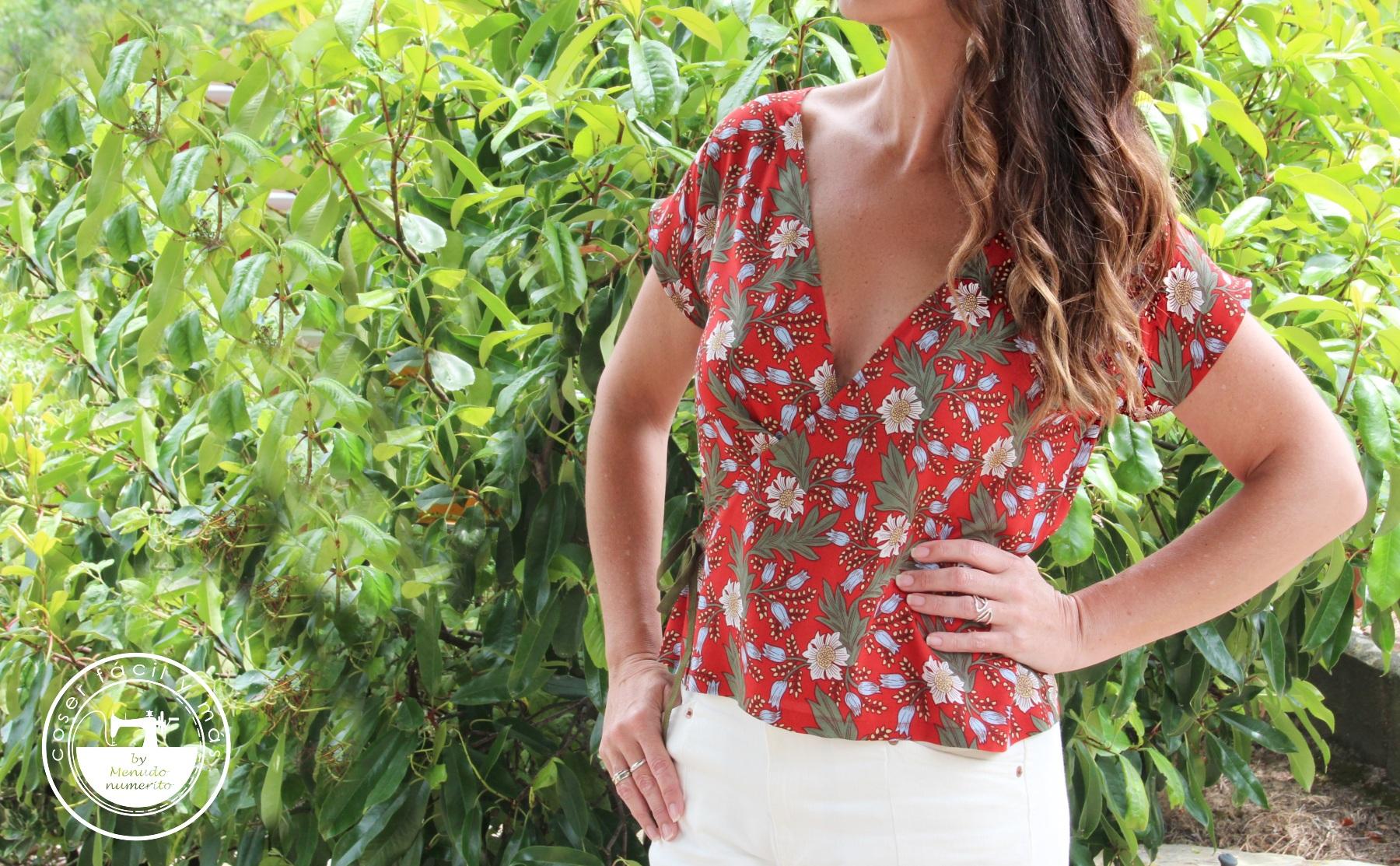 blusa cruzada coser facil menudo numerito blogs de costura