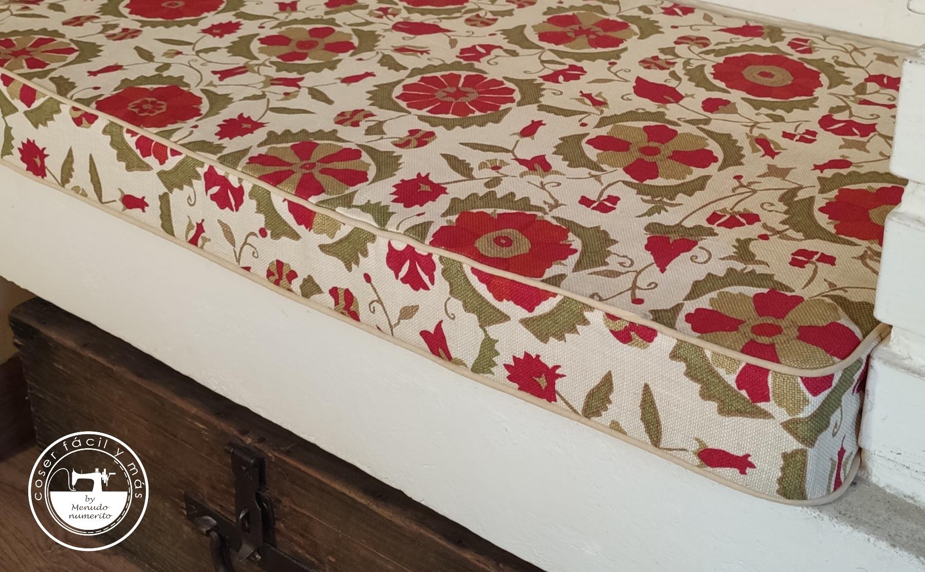 cojin colchoneta banco silla sofa menudo numerito blog de costura