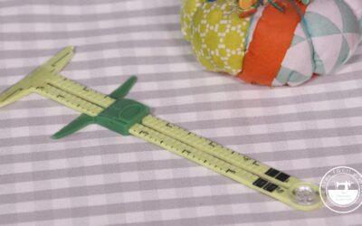 Calibre de costura deslizante