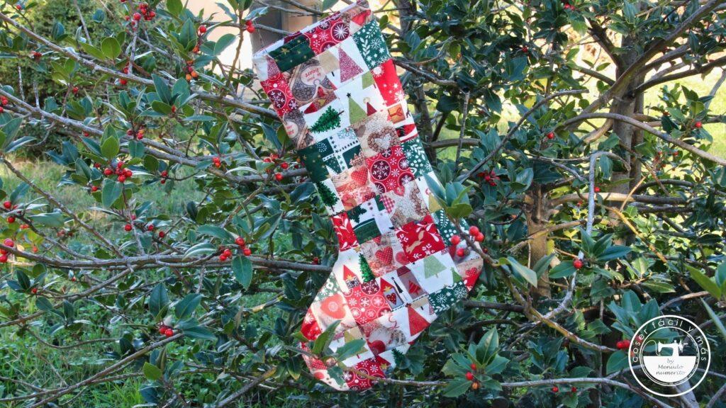 calcetín bota de navidad menudo numerito blogs de costura