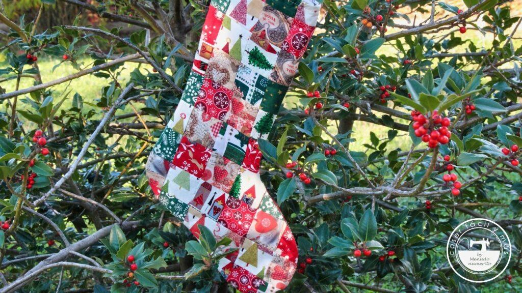 calcetín bota de navidad menudonumerito blogs de costura