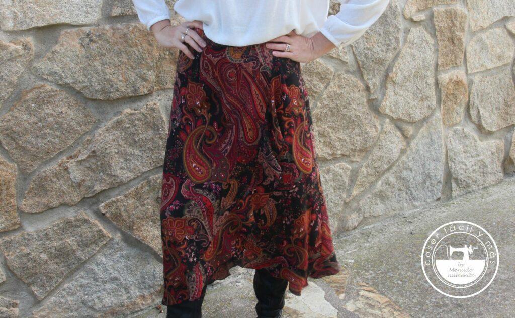 falda cruzada con volante olanes blogs de costura