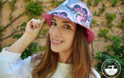 Gorro de pescador o «bucket hat», con patrones