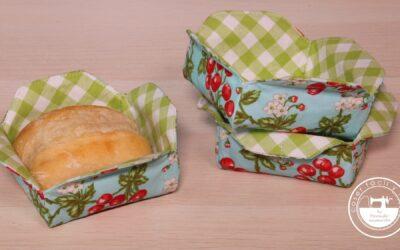 Cestas de tela individuales para el pan
