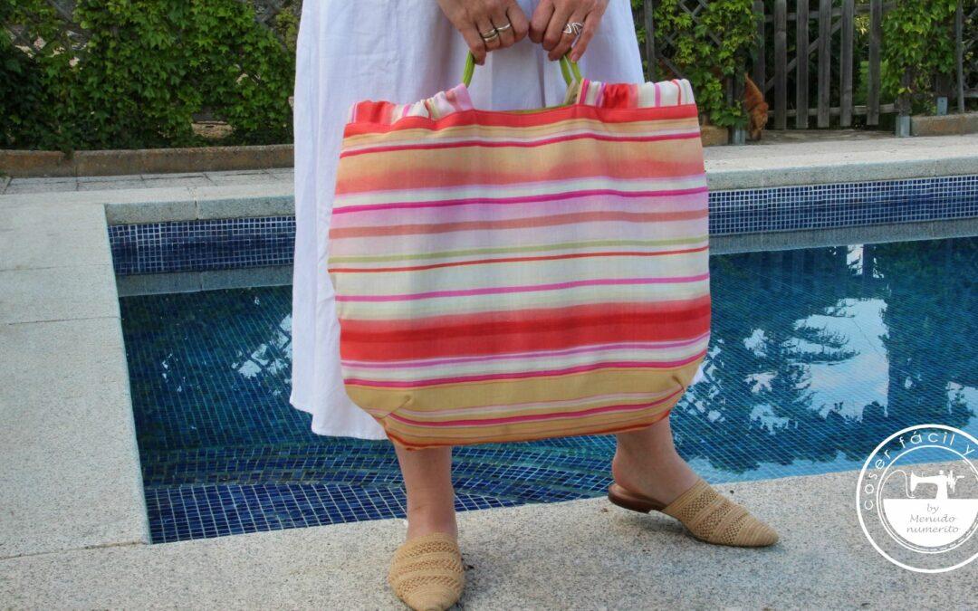 Bolso de playa reversible y ligero, con patrones descargables