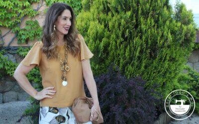 «Sara», la blusa de manga capa o manga mariposa