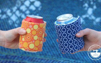 Funda isotérmica para botellas y latas (incluye patrón)