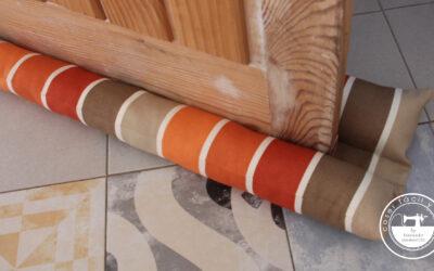 Burlete doble para evitar aire, ruido, polvo y luz en una estancia.