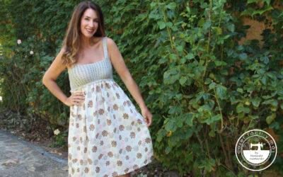 Camisón con canesú de crochet por Siona (con patrones)