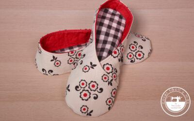 Zapatillas antideslizantes para casa, muy fáciles (con patrón)